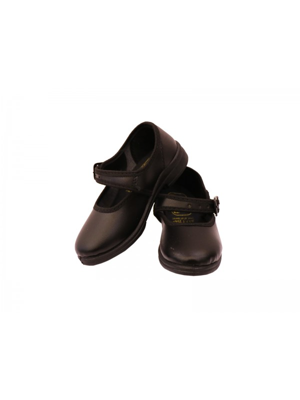 Black Shoes (with buckles) PRE-NURSERY to KG-II for Girls (As Per Company MRP)