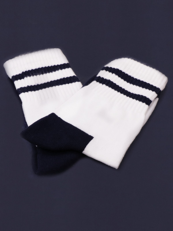 Socks (White with N-Blue) for STD. I to X (As per Company MRP)