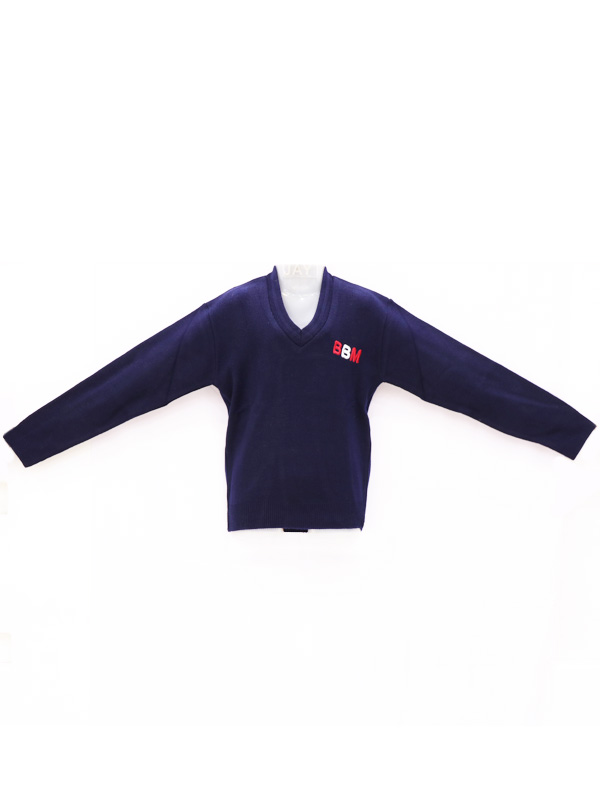Navy Blue Sweater  (Full Sleeves) with BBM Monogram for Boys & Girls PRE-NURSERY to KG-II