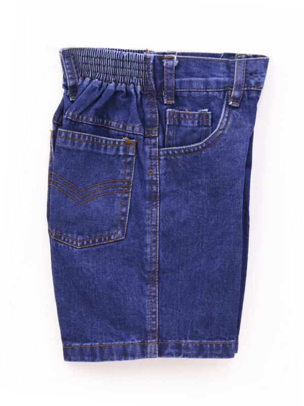 Denim Half Pant B/E FOR STD. I to V BOYS