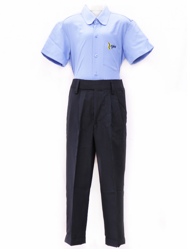 N-Blue Stripe Full Pant BE For STD. VI to X Boys