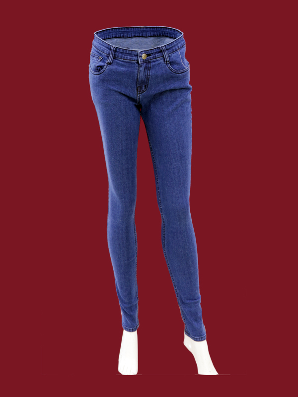 DARK BLUE STRECHABLE JEANS For GIRLS